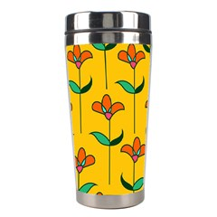Small Flowers Pattern Floral Seamless Pattern Vector Stainless Steel Travel Tumblers by BangZart