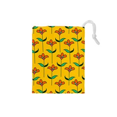 Small Flowers Pattern Floral Seamless Pattern Vector Drawstring Pouches (small)
