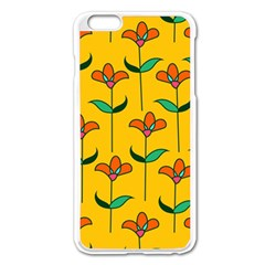 Small Flowers Pattern Floral Seamless Pattern Vector Apple Iphone 6 Plus/6s Plus Enamel White Case by BangZart