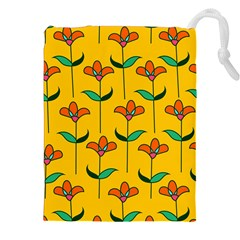 Small Flowers Pattern Floral Seamless Pattern Vector Drawstring Pouches (xxl) by BangZart