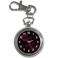 Pink Floral Pattern Background Wallpaper Key Chain Watches