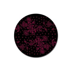 Pink Floral Pattern Background Wallpaper Magnet 3  (round) by BangZart