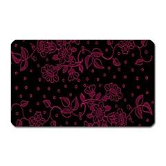 Pink Floral Pattern Background Wallpaper Magnet (rectangular) by BangZart