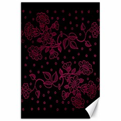 Pink Floral Pattern Background Wallpaper Canvas 20  X 30