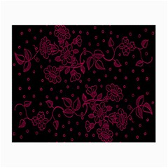 Pink Floral Pattern Background Wallpaper Small Glasses Cloth (2 Side) by BangZart