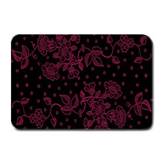 Pink Floral Pattern Background Wallpaper Plate Mats by BangZart