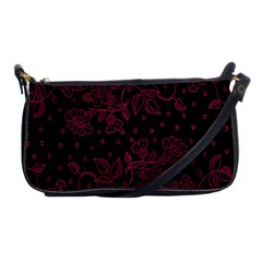 Pink Floral Pattern Background Wallpaper Shoulder Clutch Bags by BangZart
