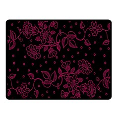 Pink Floral Pattern Background Wallpaper Fleece Blanket (small) by BangZart