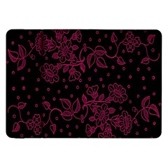 Pink Floral Pattern Background Wallpaper Samsung Galaxy Tab 8 9  P7300 Flip Case by BangZart