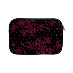 Pink Floral Pattern Background Wallpaper Apple Ipad Mini Zipper Cases by BangZart