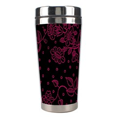 Pink Floral Pattern Background Wallpaper Stainless Steel Travel Tumblers by BangZart