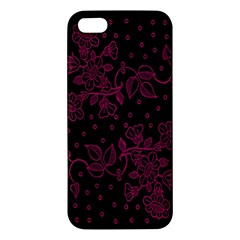Pink Floral Pattern Background Wallpaper Iphone 5s/ Se Premium Hardshell Case by BangZart