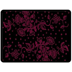 Pink Floral Pattern Background Wallpaper Double Sided Fleece Blanket (large)  by BangZart
