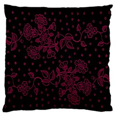 Pink Floral Pattern Background Wallpaper Large Flano Cushion Case (one Side)