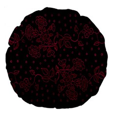 Pink Floral Pattern Background Wallpaper Large 18  Premium Flano Round Cushions by BangZart