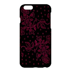 Pink Floral Pattern Background Wallpaper Apple Iphone 6 Plus/6s Plus Hardshell Case