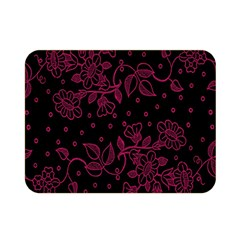 Pink Floral Pattern Background Wallpaper Double Sided Flano Blanket (mini)  by BangZart