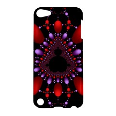Fractal Red Violet Symmetric Spheres On Black Apple Ipod Touch 5 Hardshell Case by BangZart