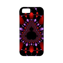 Fractal Red Violet Symmetric Spheres On Black Apple Iphone 5 Classic Hardshell Case (pc+silicone) by BangZart