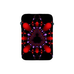 Fractal Red Violet Symmetric Spheres On Black Apple Ipad Mini Protective Soft Cases