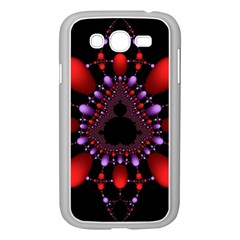 Fractal Red Violet Symmetric Spheres On Black Samsung Galaxy Grand Duos I9082 Case (white) by BangZart