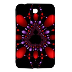 Fractal Red Violet Symmetric Spheres On Black Samsung Galaxy Tab 3 (7 ) P3200 Hardshell Case  by BangZart