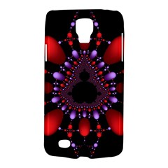 Fractal Red Violet Symmetric Spheres On Black Galaxy S4 Active by BangZart