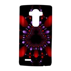Fractal Red Violet Symmetric Spheres On Black Lg G4 Hardshell Case by BangZart