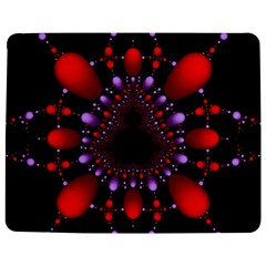 Fractal Red Violet Symmetric Spheres On Black Jigsaw Puzzle Photo Stand (rectangular) by BangZart