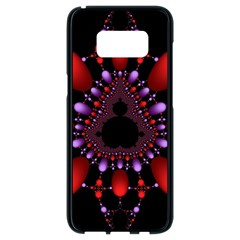 Fractal Red Violet Symmetric Spheres On Black Samsung Galaxy S8 Black Seamless Case