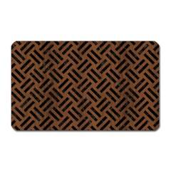 Woven2 Black Marble & Brown Wood (r) Magnet (rectangular) by trendistuff