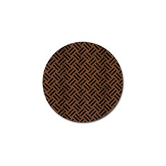 Woven2 Black Marble & Brown Wood (r) Golf Ball Marker (10 Pack) by trendistuff