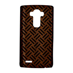 Woven2 Black Marble & Brown Wood (r) Lg G4 Hardshell Case by trendistuff