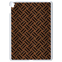 Woven2 Black Marble & Brown Wood (r) Apple Ipad Pro 9 7   White Seamless Case by trendistuff