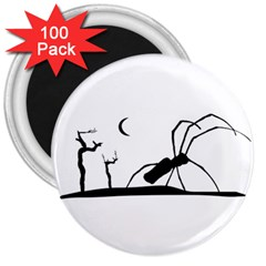 Dark Scene Silhouette Style Graphic Illustration 3  Magnets (100 Pack) by dflcprints