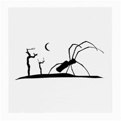 Dark Scene Silhouette Style Graphic Illustration Medium Glasses Cloth by dflcprints