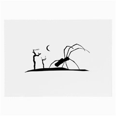 Dark Scene Silhouette Style Graphic Illustration Large Glasses Cloth by dflcprints