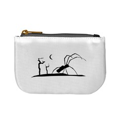 Dark Scene Silhouette Style Graphic Illustration Mini Coin Purses by dflcprints
