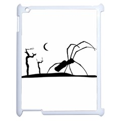 Dark Scene Silhouette Style Graphic Illustration Apple Ipad 2 Case (white) by dflcprints