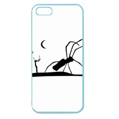 Dark Scene Silhouette Style Graphic Illustration Apple Seamless Iphone 5 Case (color) by dflcprints