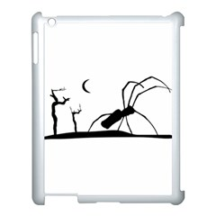 Dark Scene Silhouette Style Graphic Illustration Apple Ipad 3/4 Case (white) by dflcprints