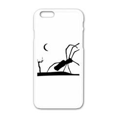 Dark Scene Silhouette Style Graphic Illustration Apple Iphone 6/6s White Enamel Case by dflcprints