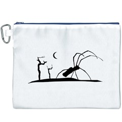 Dark Scene Silhouette Style Graphic Illustration Canvas Cosmetic Bag (xxxl) by dflcprints