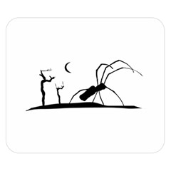 Dark Scene Silhouette Style Graphic Illustration Double Sided Flano Blanket (small)  by dflcprints
