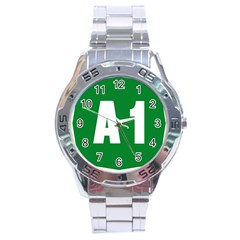 Autostrada A1 Stainless Steel Analogue Watch by abbeyz71