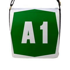 Autostrada A1 Flap Messenger Bag (l)  by abbeyz71