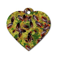 Cockroaches Dog Tag Heart (one Side) by SuperPatterns