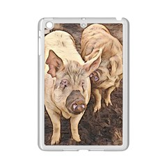 Happy Pigs Ipad Mini 2 Enamel Coated Cases by DeneWestUK