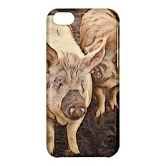 Happy Pigs Apple Iphone 5c Hardshell Case by DeneWestUK