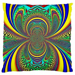 Hot Hot Summer B Large Flano Cushion Case (two Sides) by MoreColorsinLife